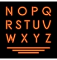 Neon Tube Letters Glowing Font vector image