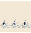 seamless pattern with branches and birds vector image