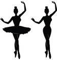 woman ballet dancer silhouette vector image