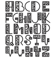 Set of mosaic alphabet vector image