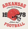 arkanzas t shirt with football helmet vector image vector image