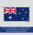 australian flag flat - artistic brush strokes and vector image vector image