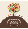 Background of stylized autumn tree for greeting vector image vector image