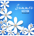 beautiful background with white flowers vector image vector image