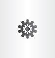 black gear icon sign design vector image