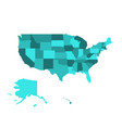 blank map of united states of america usa vector image vector image
