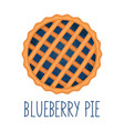blueberry pie on white background top view vector image vector image