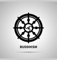buddhism religion simple black icon vector image