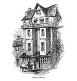 caxtons house vintage vector image vector image