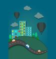 city landscape design vector image