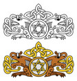coat of arms in the celtic style with the image of vector image vector image