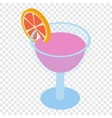 Cocktail isometric 3d icon vector image vector image