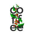 coffee symbol branch art design vector image