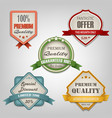 collection of different colored retro design vector image vector image