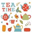 Colorful tea party set