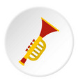 colorful trumpet toy icon circle vector image vector image