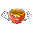 crazy katsudon is served on mascot plate vector image
