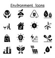 environment ecology icon set vector image vector image