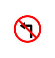 forbidden turn left icon can be used for web logo vector image vector image
