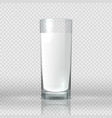 glass milk realistic image transparent cup vector image
