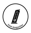Gun magazine icon vector image vector image