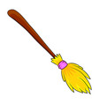 halloween broomstick symbol icon design beautiful vector image vector image
