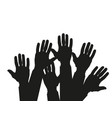 hands raised up - symbol of freedom the choice vector image vector image