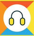 headphone colorful outline symbol premium quality vector image vector image