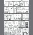 house interior silhouette vector image vector image