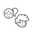 kid icon symbol child design set joy happy friends vector image vector image