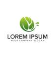 natural leaf logo garden landscaping logo design vector image vector image