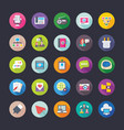 Network and communications coloured icons