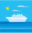 passenger cruise liner vector image