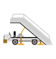 plane ladder cart vector image vector image
