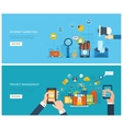 Project management and internet marketing concept vector image