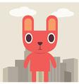Red Bunny cartoon vector image vector image
