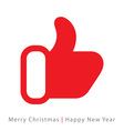 red mitten thumb up icon on white background vector image