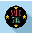 Sale sticker 70 percent off icon flat style vector image vector image