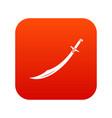 scimitar sword icon digital red vector image vector image