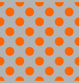 seamless pattern with neon orange polka dots vector image vector image