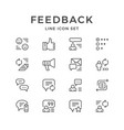 set line icons of feedback vector image vector image