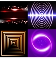 Set of Blurry abstract lines Light effect Sparkle vector image vector image