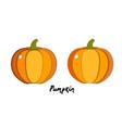 set paper cut orange pumpkin cut shapes 3d vector image