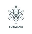 snowflake line icon linear concept vector image