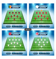 soccer team player plan group g with flags vector image vector image