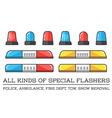 special flashers of emergency dept department vector image