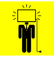 symbol man monitor vector image