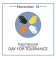 Tolerance Day vector image vector image