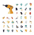 vintage icons set for industrial vector image
