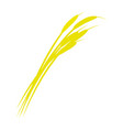 wheat branch icon flat style vector image